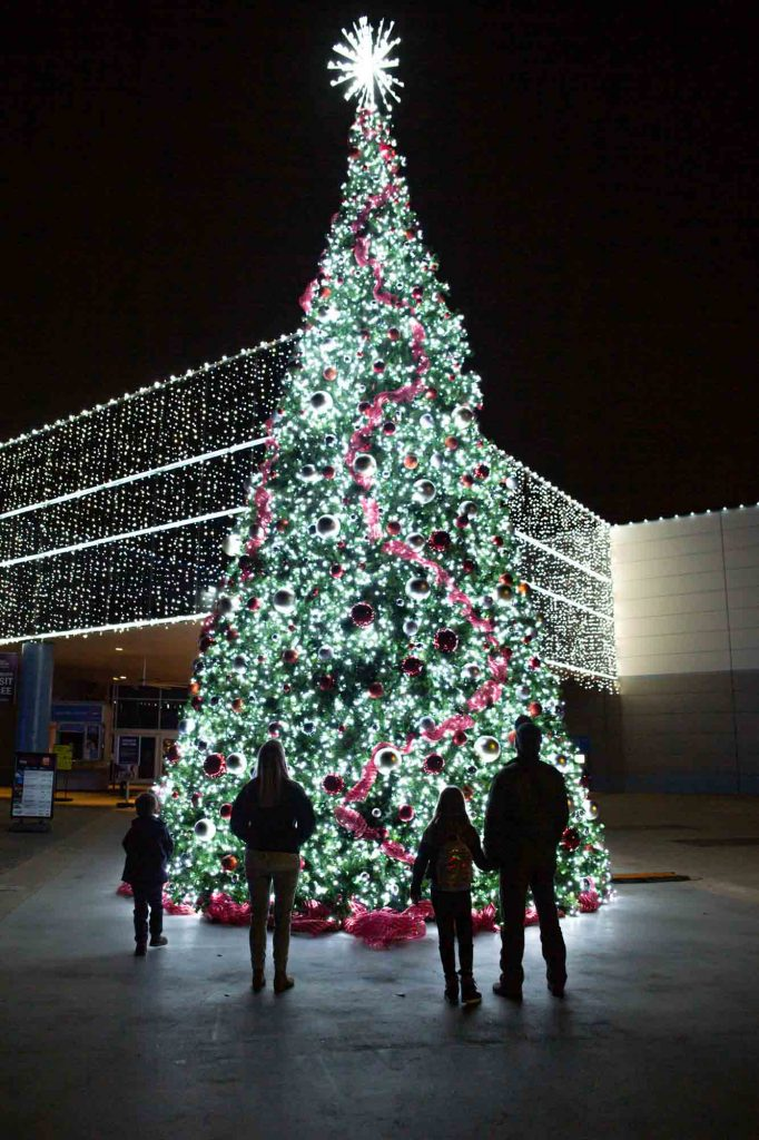 Space Center Houston is one of the cool places to be during Christmas in Houston
