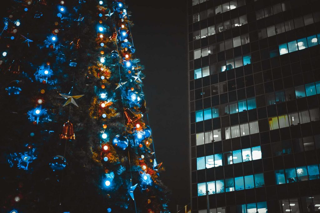 Watching a Christmas Classic at Klyde Warren Park is one of the ways to enjoy Christmas in Dallas