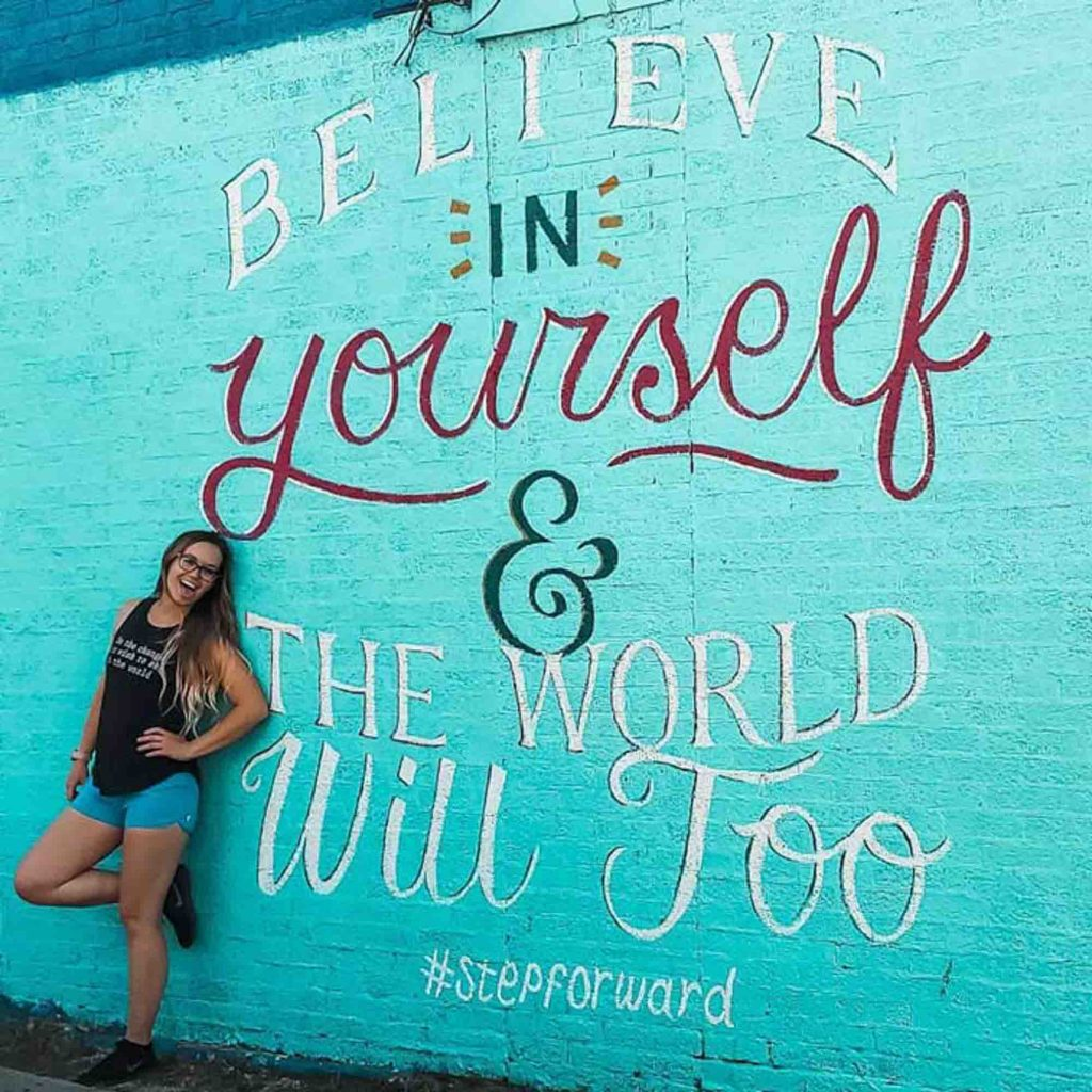 Believe in yourself mural is one of the best Dallas Murals to see