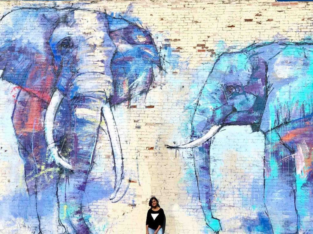 Deep Ellumphants mural is one of the famous Dallas Murals