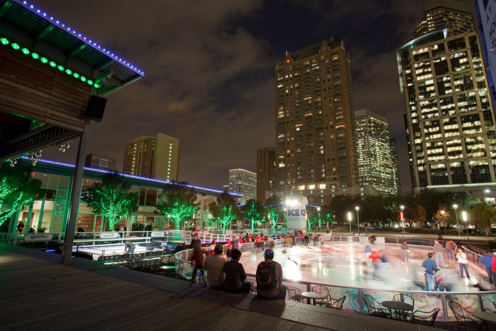 Ice rink at Discovery Green