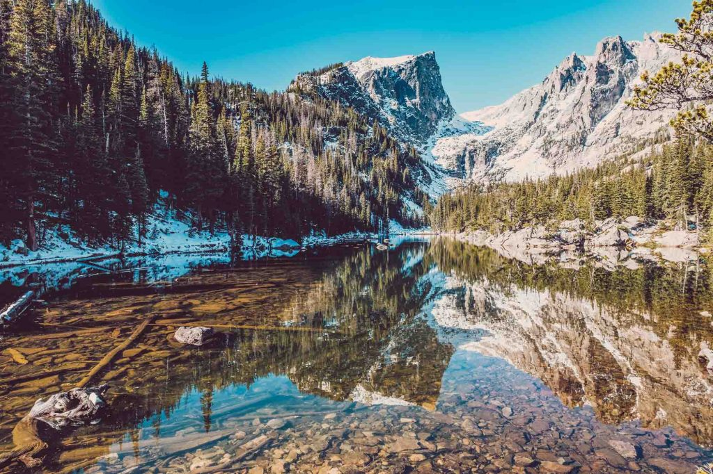 Rocky Mountain National Park, Colorado is a must visit during winter in the US