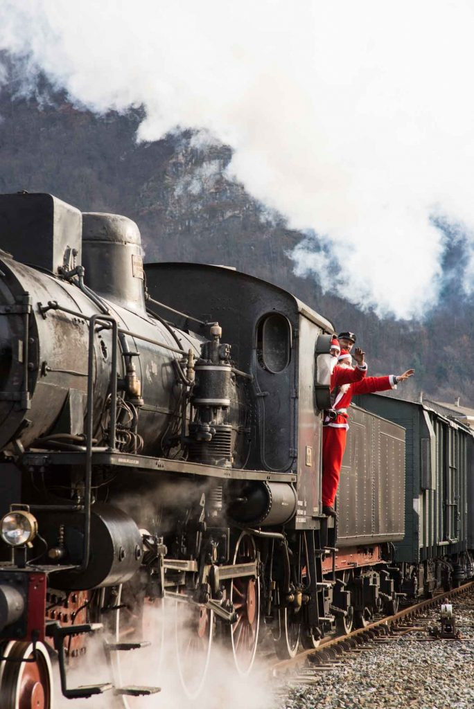 Taking a Christmas Train Ride is one the cool things to do at Christmas in Houston