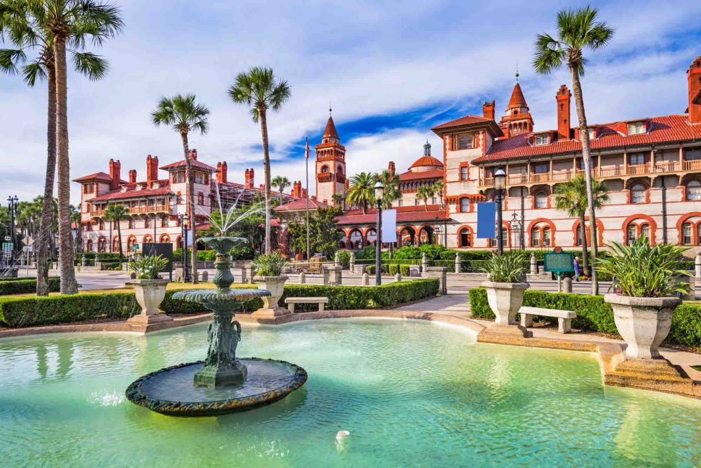 St Augustine, Florida is one of the winter vacations in the US