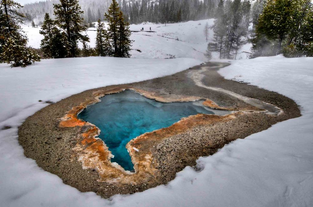 Yellowstone National Park, Wyoming is one of winter destinations in the US
