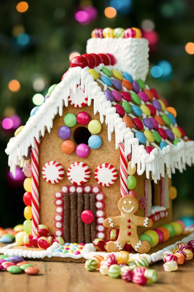 Building a gingerbread house at Thinkery Children's Museum is one of the fun ways to celebrate Christmas in Austin