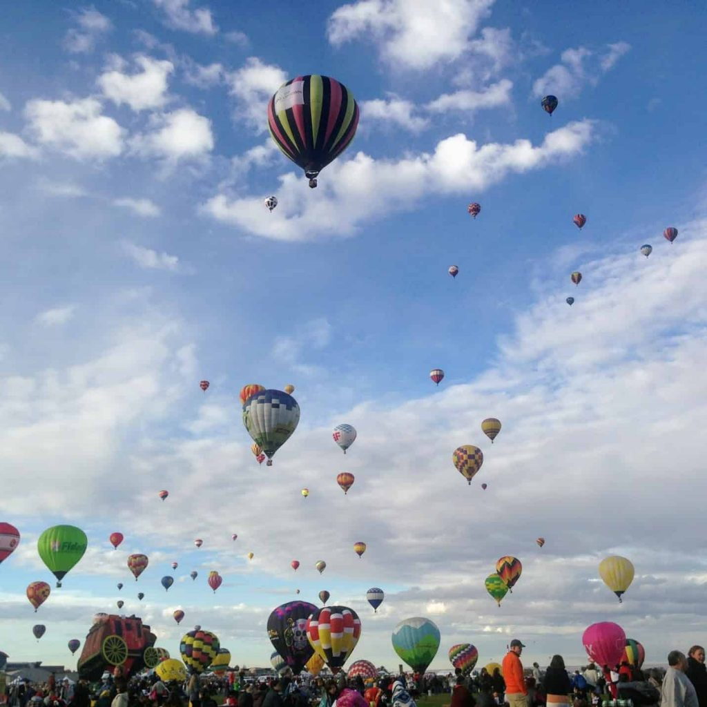 Albuquerque, New Mexico is one of the best fall vacations in the USA
