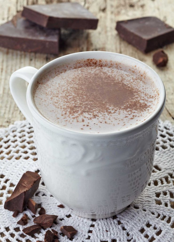 Sipping on Bottomless Hot Chocolate at Mozart's Coffee Roasters is one of the ways to spend Christmas in Austin