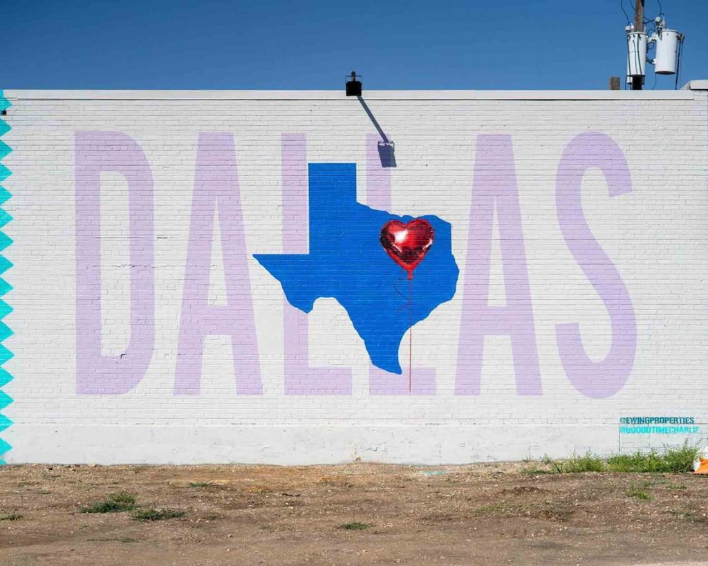 The I Love Dallas mural is one of the must-see Dallas murals