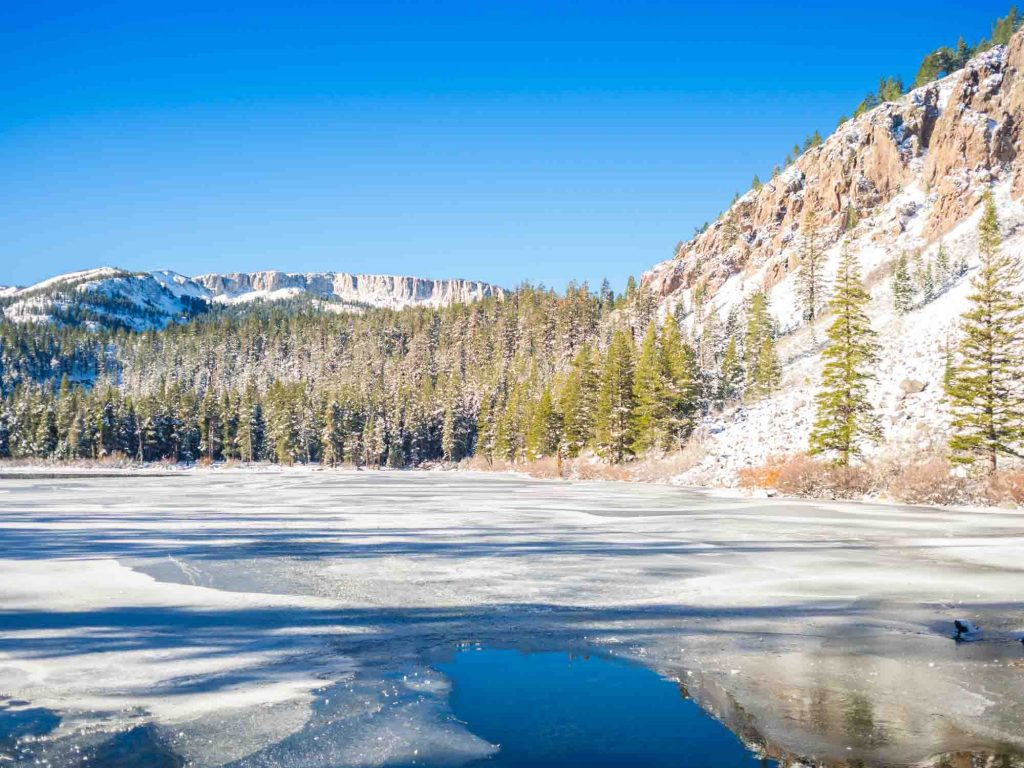 Mammoth Lakes, California is one of the winter vacations in the US