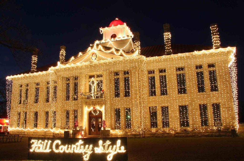 Johnson City Christmas lights in Texas