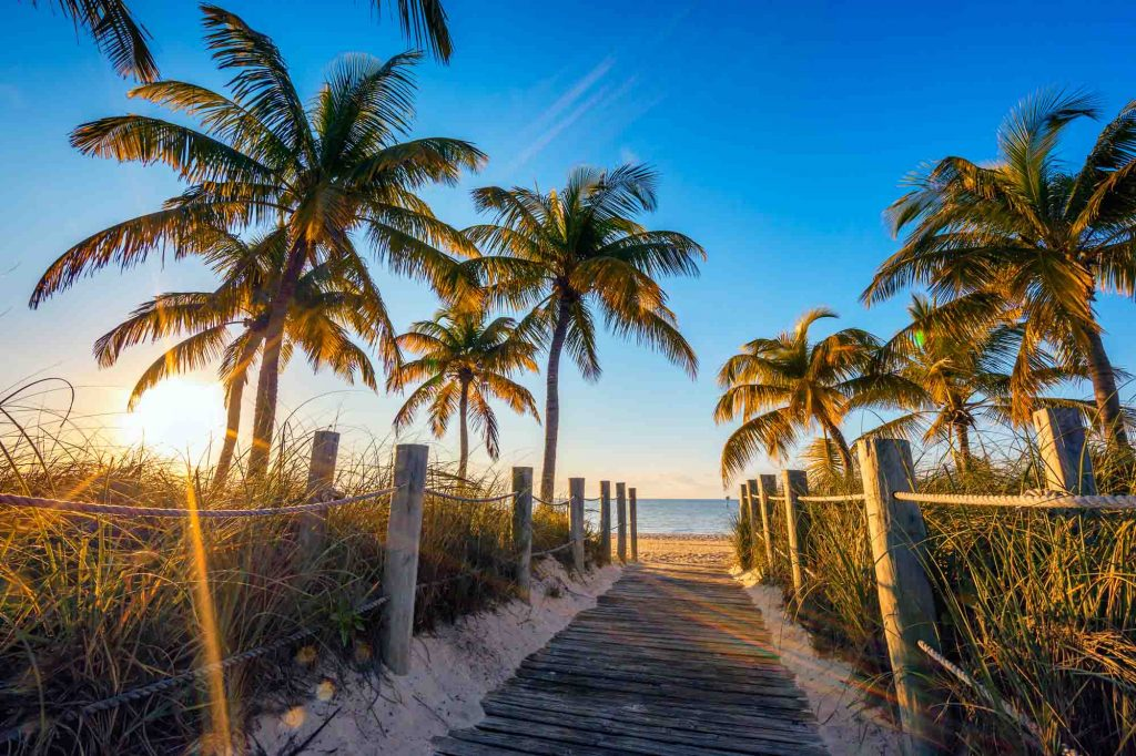 Key West, Florida is one of the winter vacations in the US
