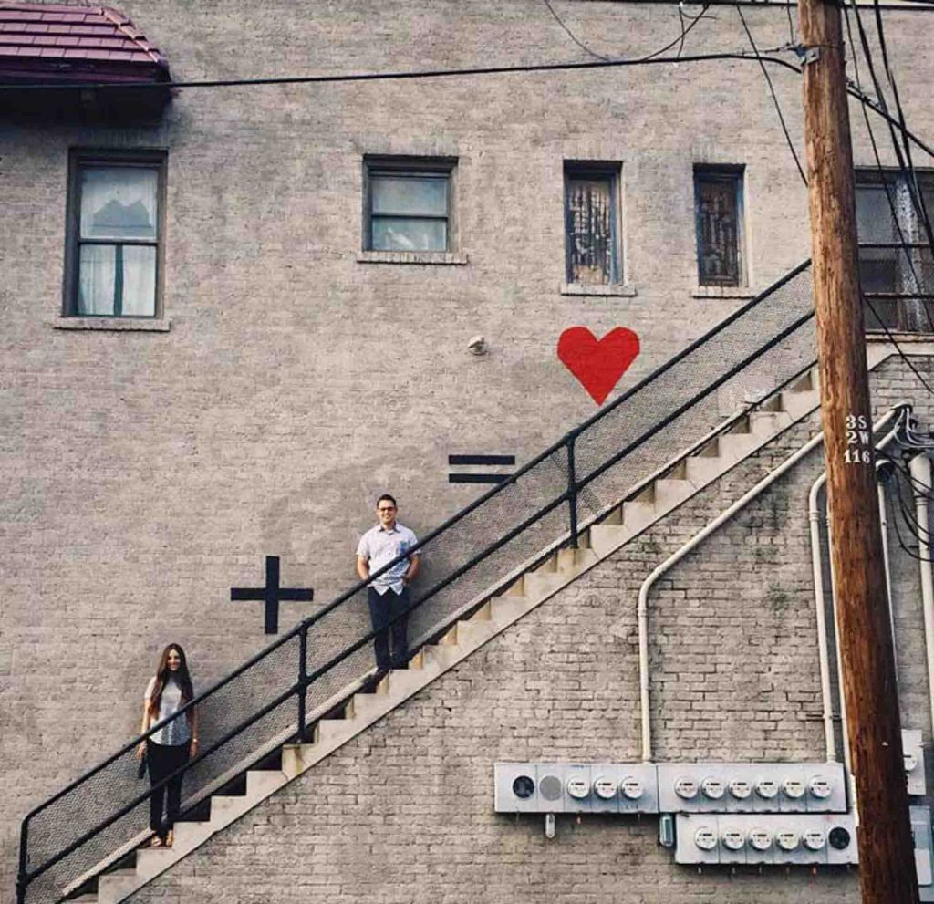 Love Equation Mural is one of the cute Dallas murals to visit