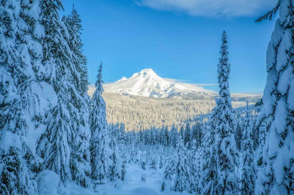 Mount Hood, Oregon is one the best winter vacations in the US