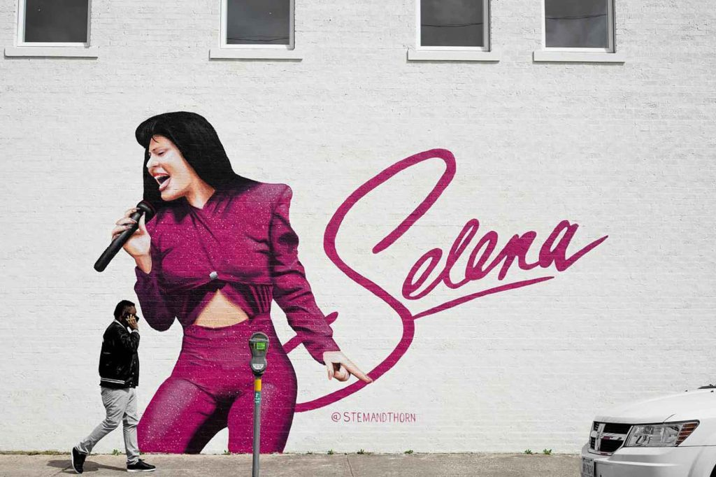 Selena Mural is one of the famous murals in Dallas