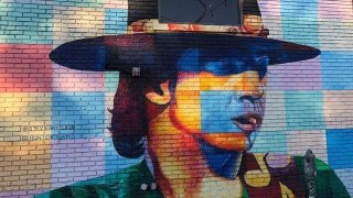 Stevie Ray Ellum mural is one of the cool Dallas Murals to see