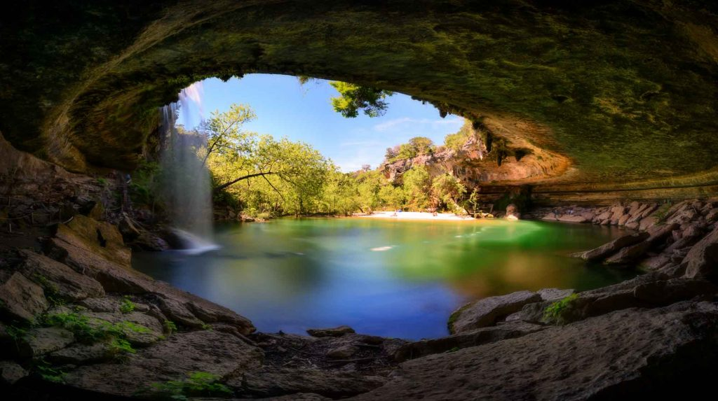 Hamilton Pool Preserve is one of the best beaches in Austin