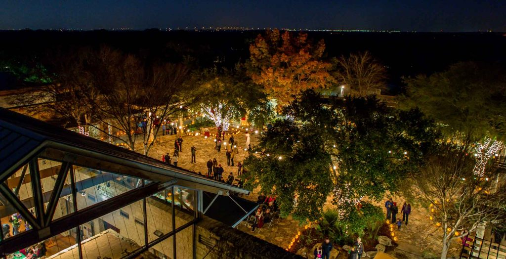 Watching the Gardens Glow at the Wildflower Center is one of the ways to spend Christmas in Austin