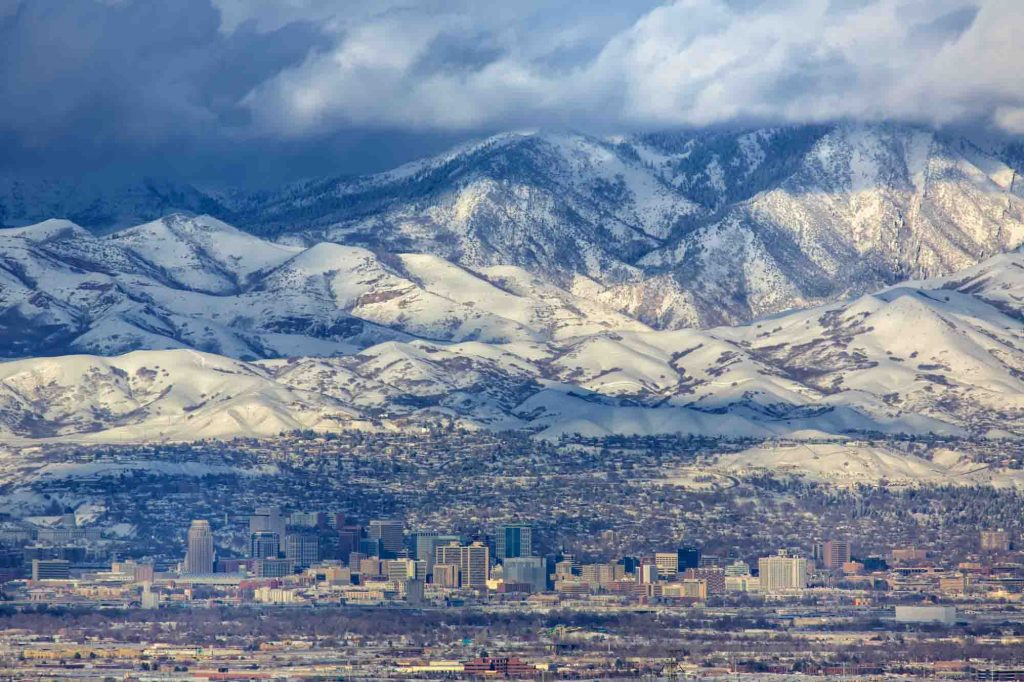 Salt Lake City, Utah is one of the best winter vacations in the US