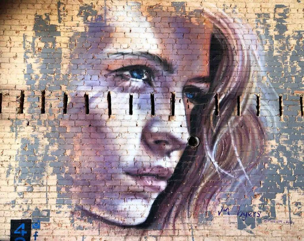 This Woman's Face mural is one of the famous murals in Dallas