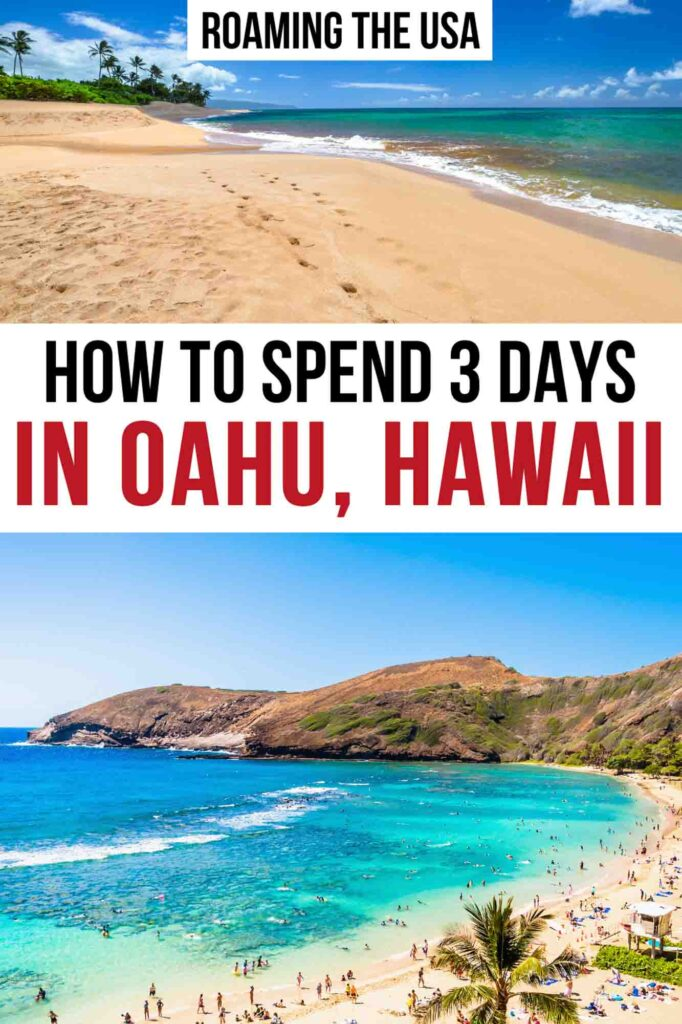 3 Days in Oahu Itinerary Pinterest Graphic