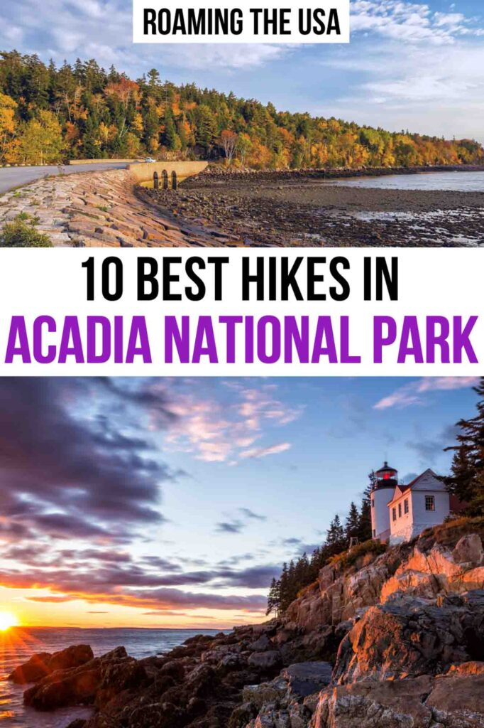 Best Hikes in Acadia National Park Pinterest Graphic