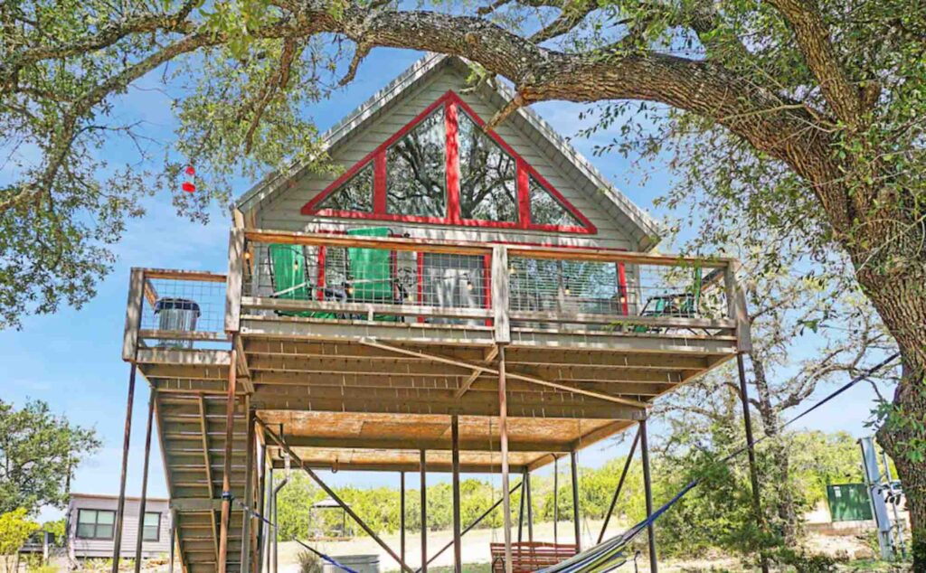 Finch Treehouse in Dripping Springs is one of the extraordinary treehouse rentals in Texas