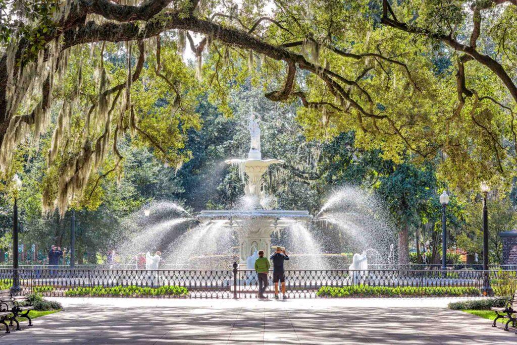 Savannah, Georgia is one of the best spring break destinations in the US