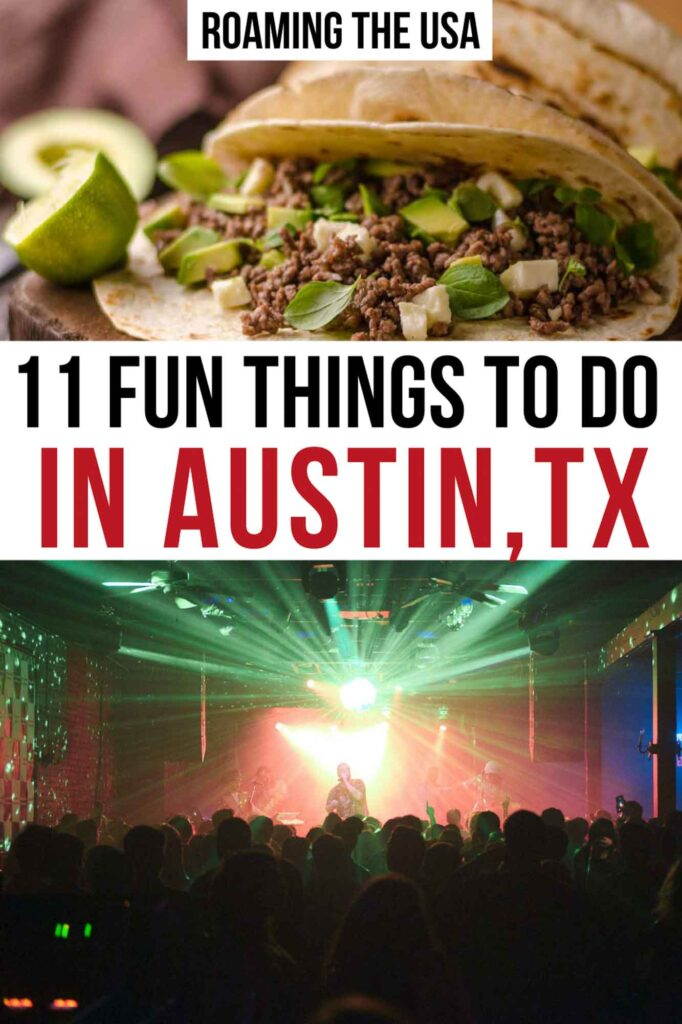 Fun Things to Do in Austin Pinterest Graphic