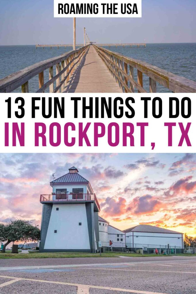Fun Things to Do in Rockport TX Pinterest Graphic