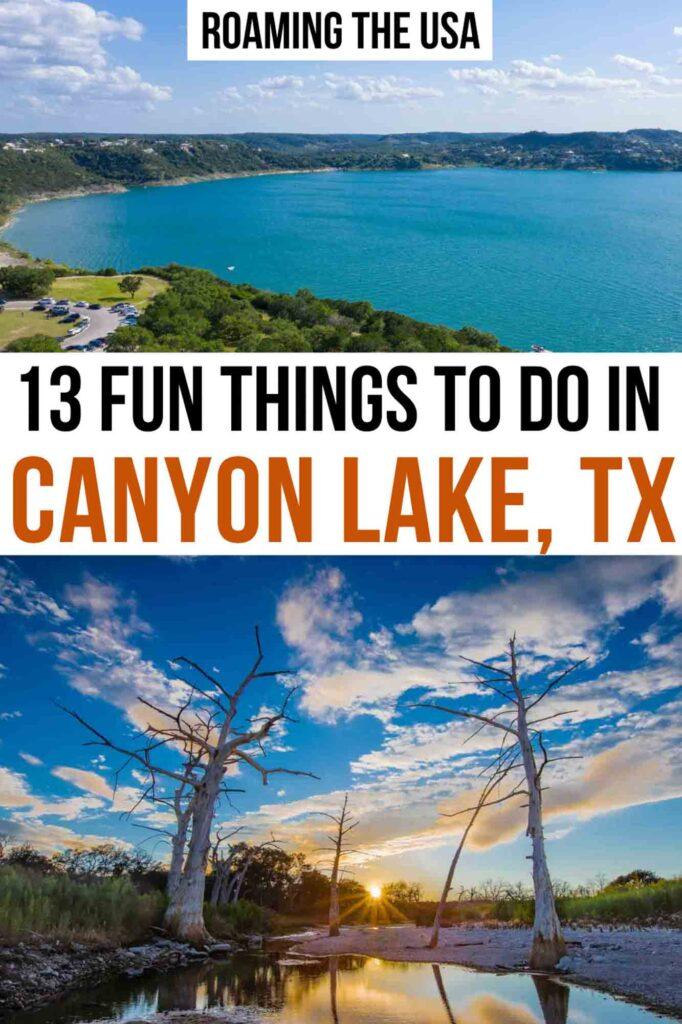 Fun things to do in Canyon Lake, Texas Pinterest Graphic