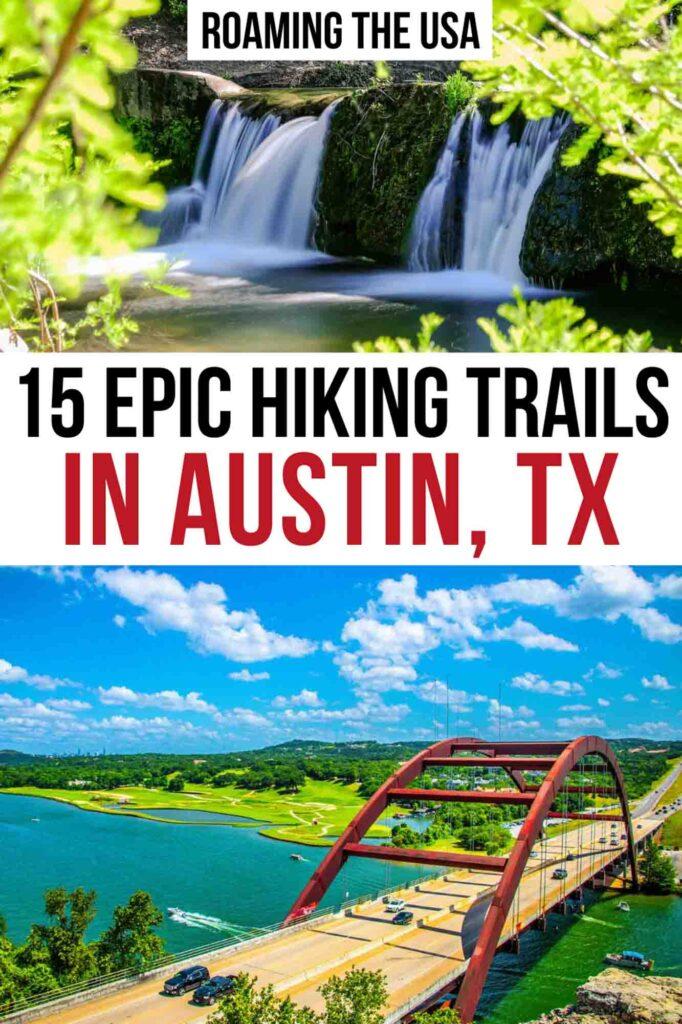 Hiking in Austin Pinterest Graphic