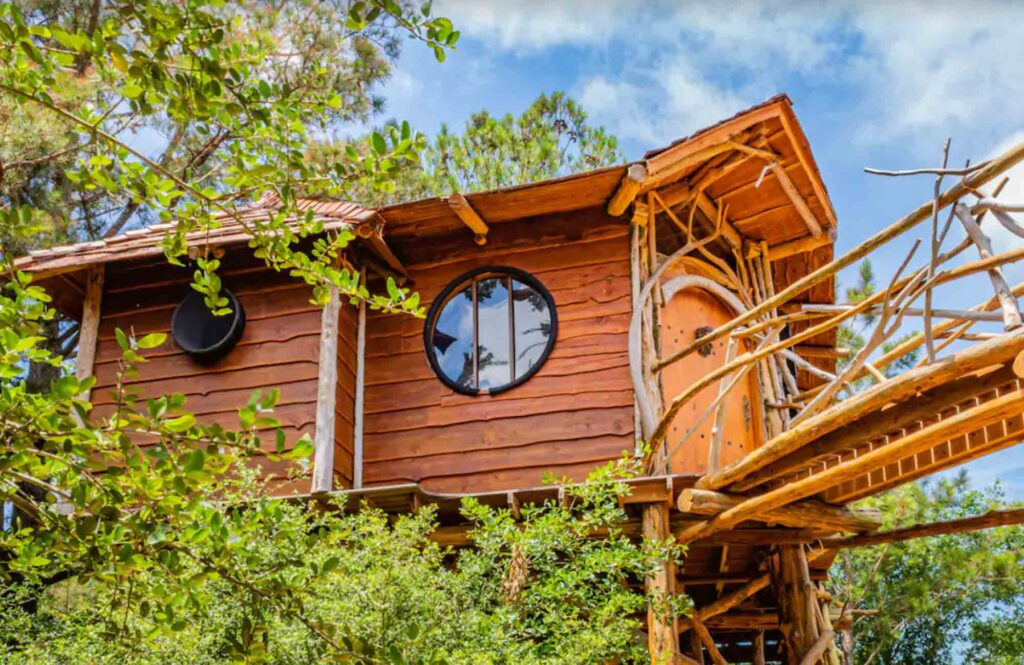 Hobbit's Nest Treehouse in the Shire at Lost Pines  is one of the best treehouse rentals in Texas