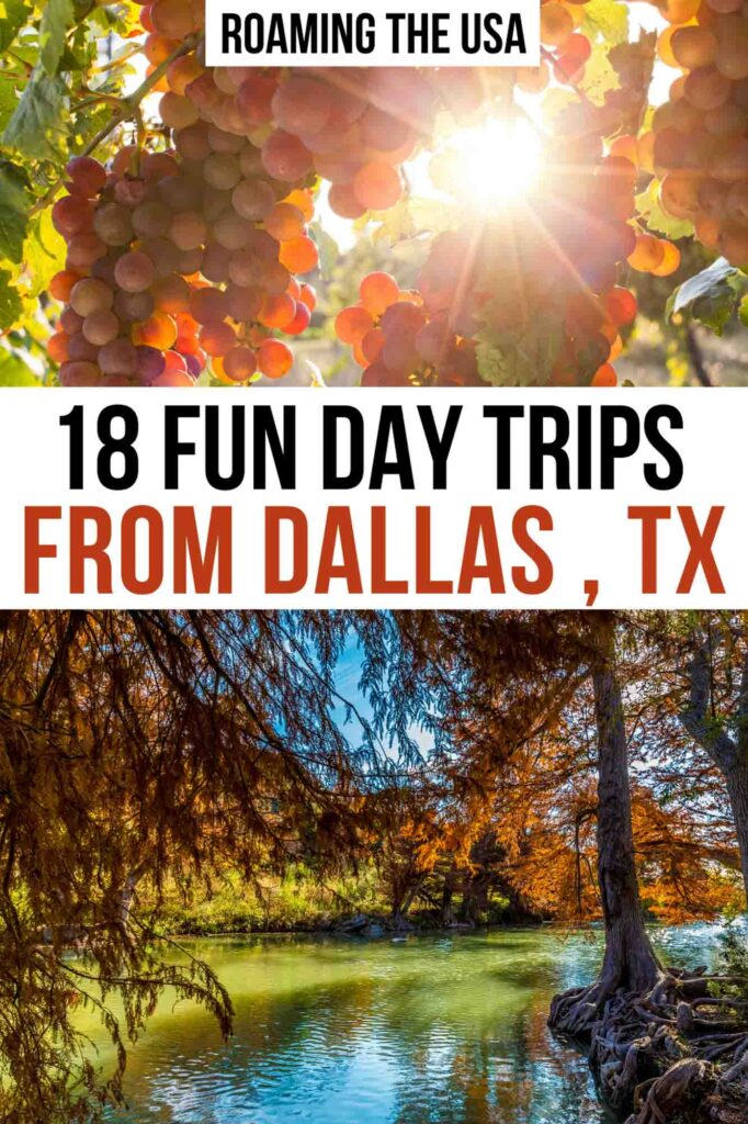 Day Trips from Dallas  Pinterest Graphic