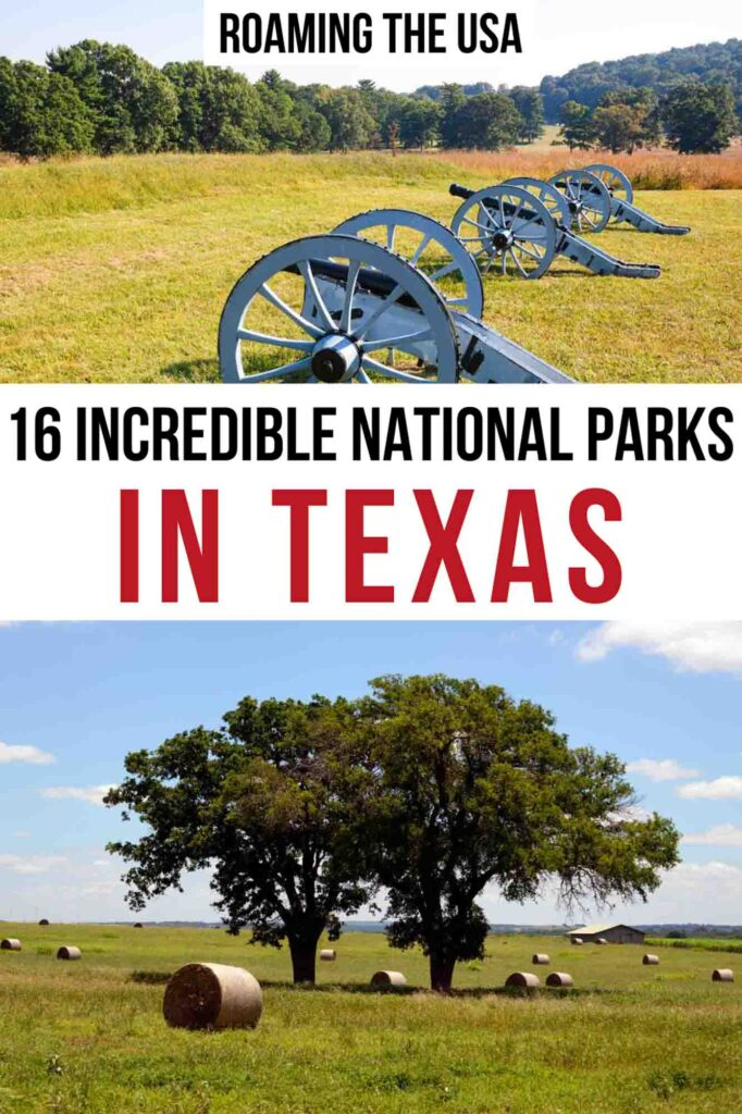 Incredible National Parks in Texas Pinterest Graphic