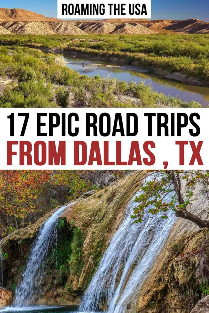 Road Trips From Dallas Pinterest Graphic