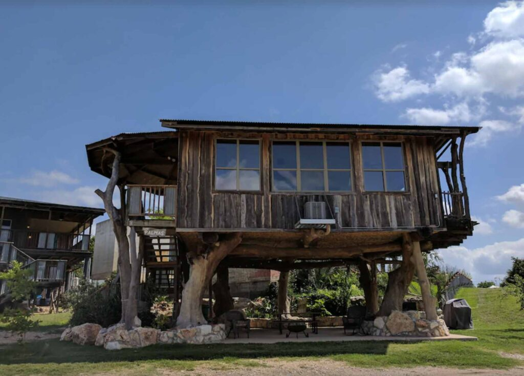 Las Palmas Treehouse in New Braunfels is one of the extraordinary treehouse rentals in Texas