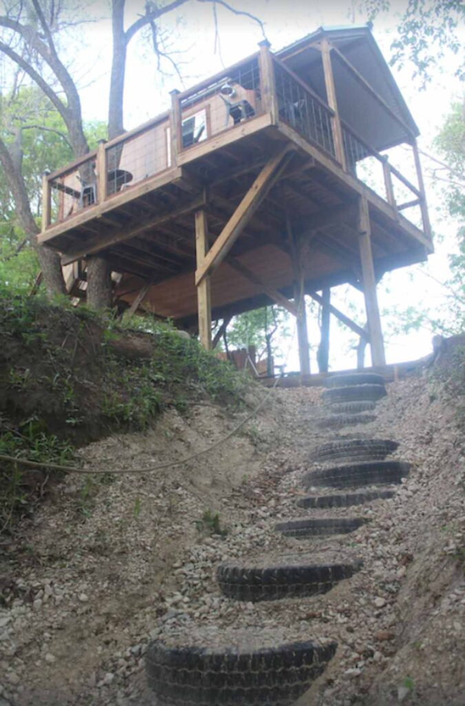 This Luxury Treehouse in Forestburg is one of the extraordinary treehouse rentals in Texas