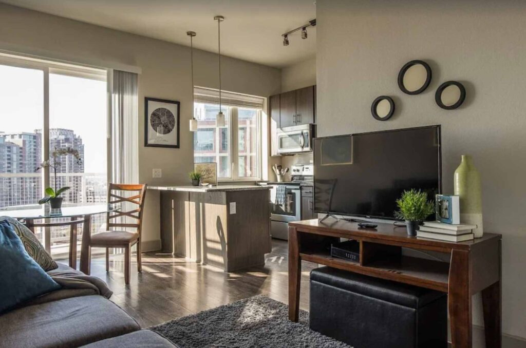 This Modern Apartment with City Views is one of the best Airbnbs in Dallas