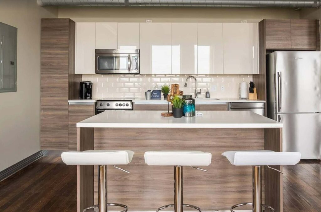 This Modern Industrial Apartment is one of the best Airbnb in Dallas