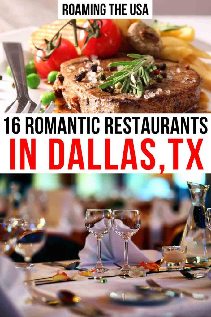 Most Romantic Restaurants in Dallas Pinterest graphic