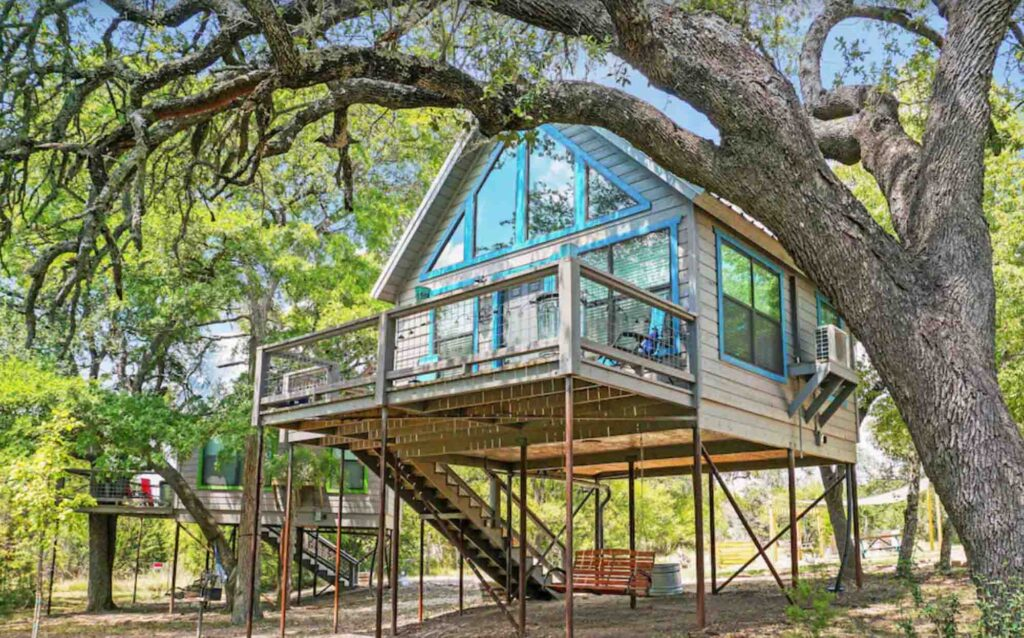 This Nautical Treehouse in Dripping Springs is one of the best treehouse rentals in Texas