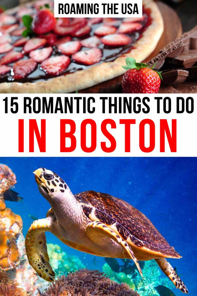 Romantic Things to Do in Boston Pinterest Graphic