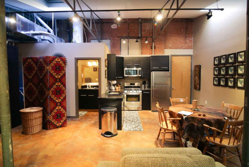 This Urban Warehouse Loft is one of the best Airbnb in Dallas
