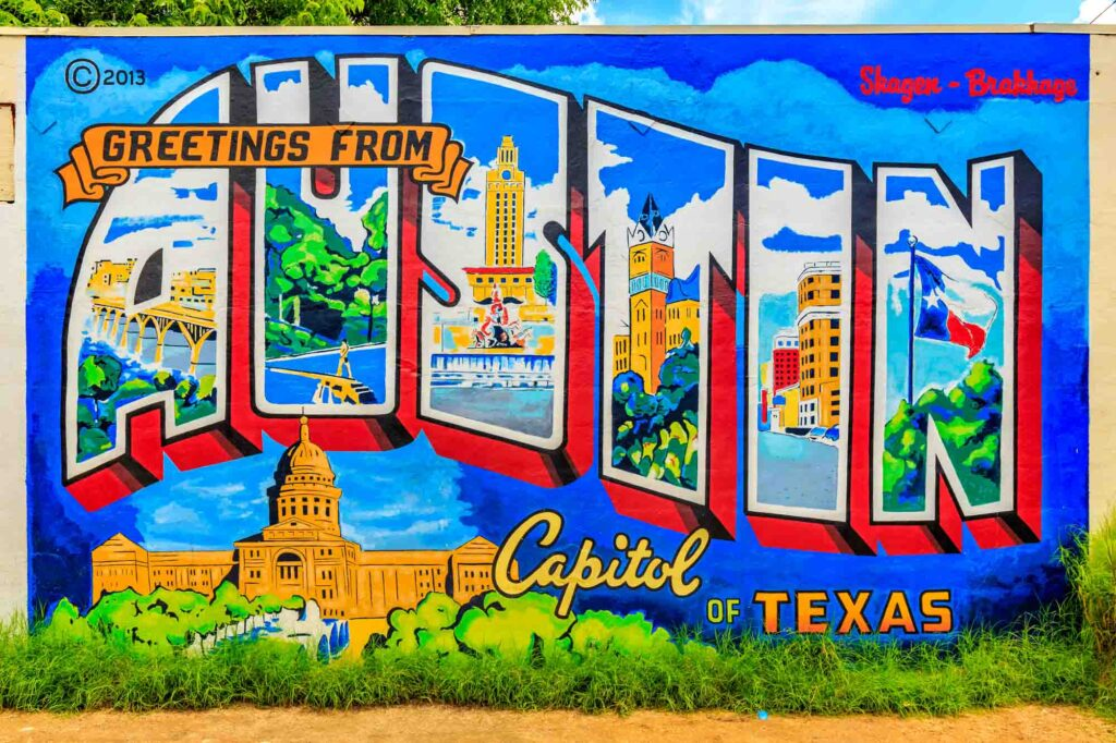 Exploring the city's graffiti walls is one of the things to do on a weekend in Austin