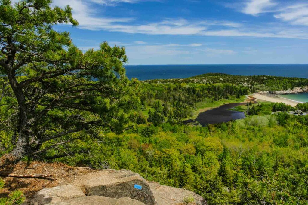 Beehive Trail is one of the epic hikes in Acadia National Park in Maine, USA