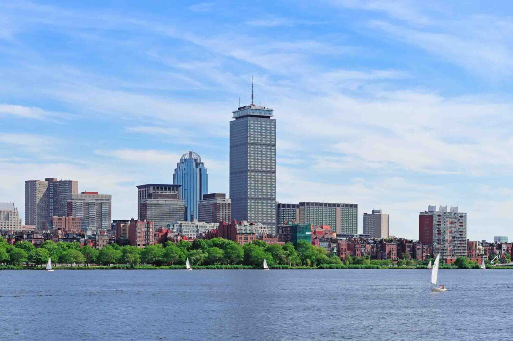Walking along the Charles River Esplanade is one of the romantic things to do in Boston