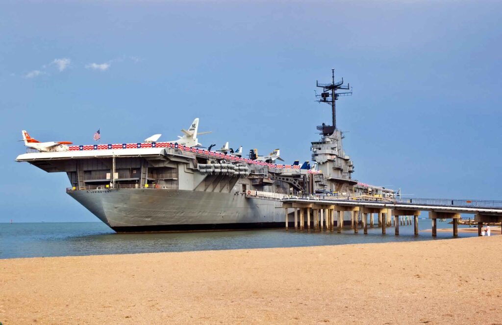 Learning at the USS Lexington Museum is one of the best things to do in Corpus Christi, Texas