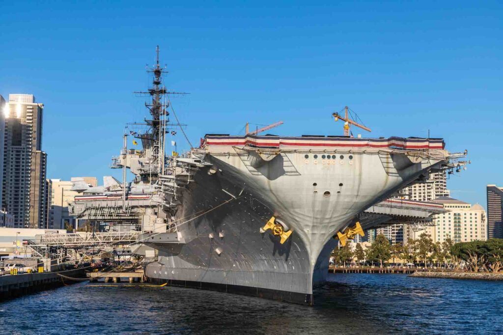 Exploring USS Midway Museum is one of the things to do in San Diego in one day