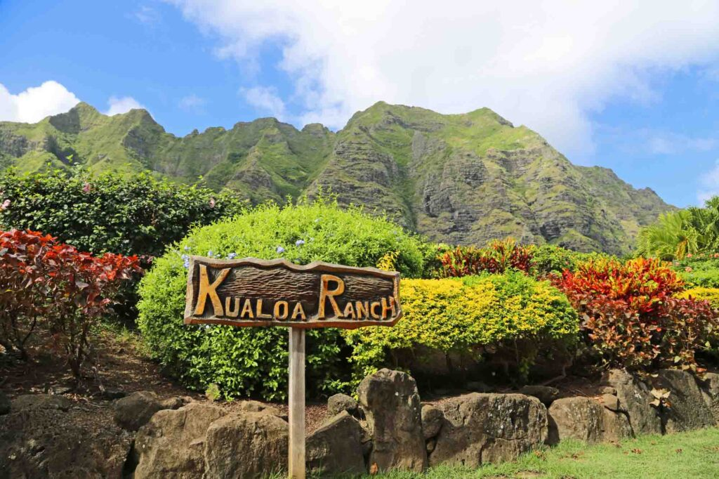 Visiting Kualoa ranch is one of the things to do in Oahu in 3 days
